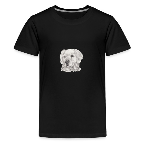 golden retriever - Teenager premium T-shirt