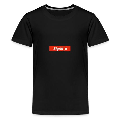 Sigrid_uBoxLogo - Premium T-skjorte for tenåringer