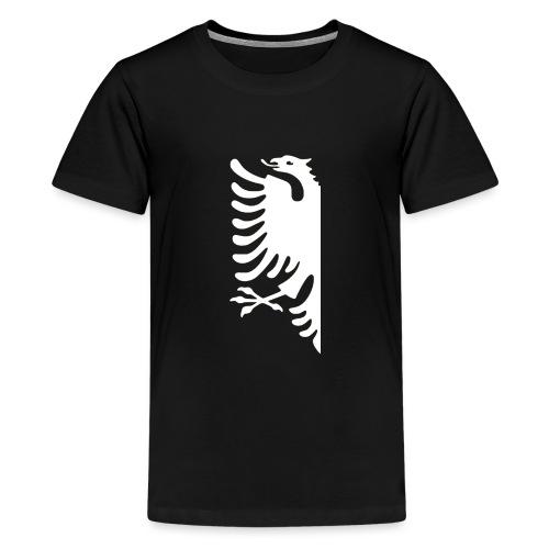 albanian half white.png - Teenager Premium T-Shirt