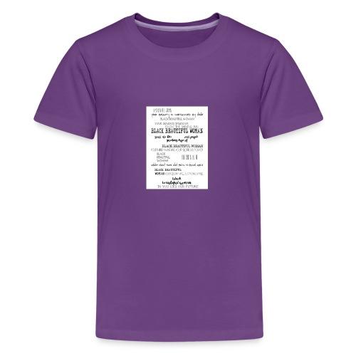 Beautiful Black Woman - Teenage Premium T-Shirt