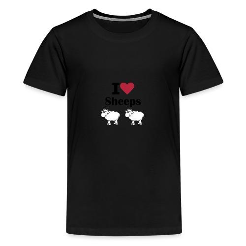 I-love-sheeps - T-shirt Premium Ado