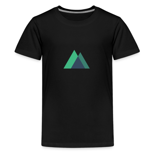 Mountain Logo - Teenage Premium T-Shirt
