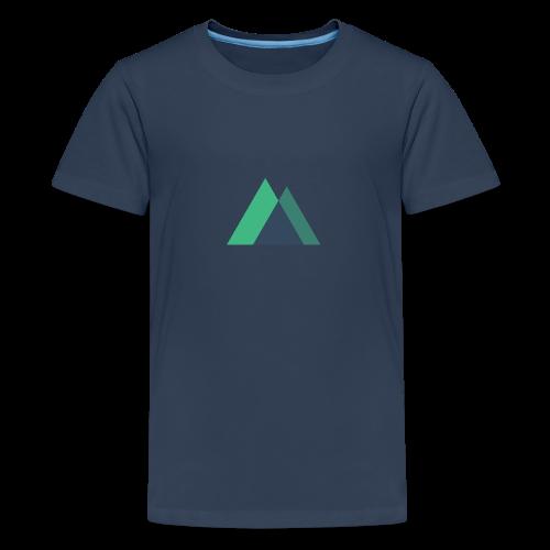 Mountain Logo - Teenage Premium T-Shirt