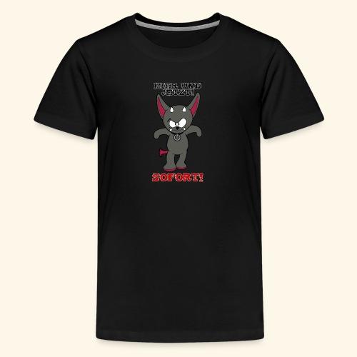 Zwergschlammelfen - Hier und Jetzt, Sofort! - Teenager Premium T-Shirt