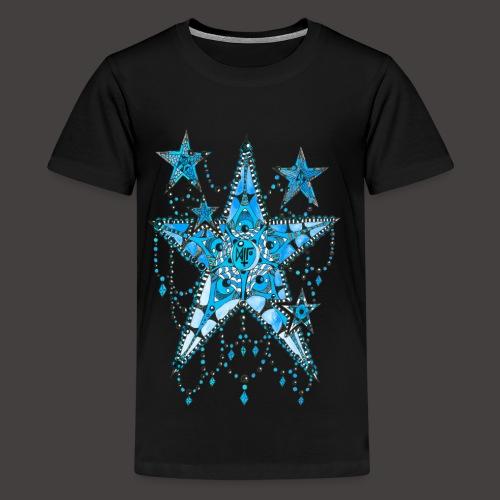 ETOILE DENTELLE BLEUE - T-shirt Premium Ado