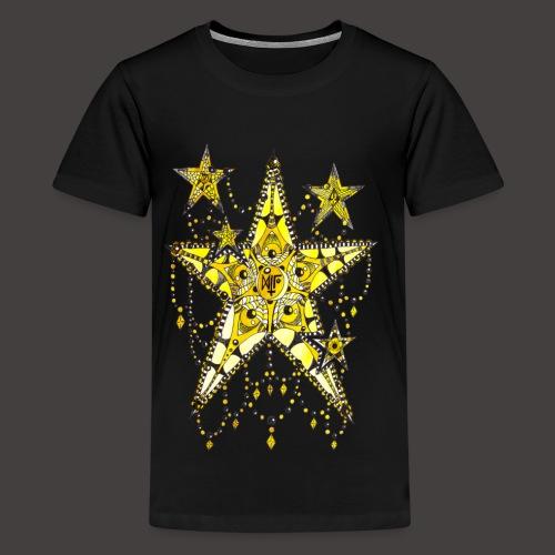 ETOILE DENTELLE JAUNE - T-shirt Premium Ado