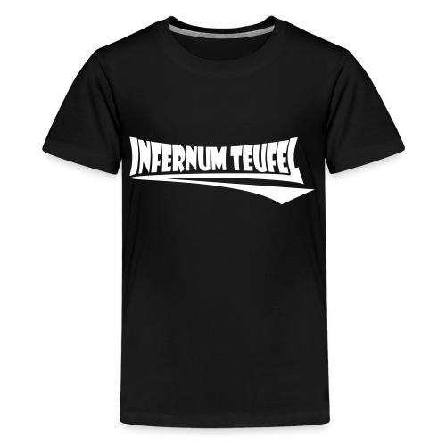 Schriftzug Weiss - Teenager Premium T-Shirt
