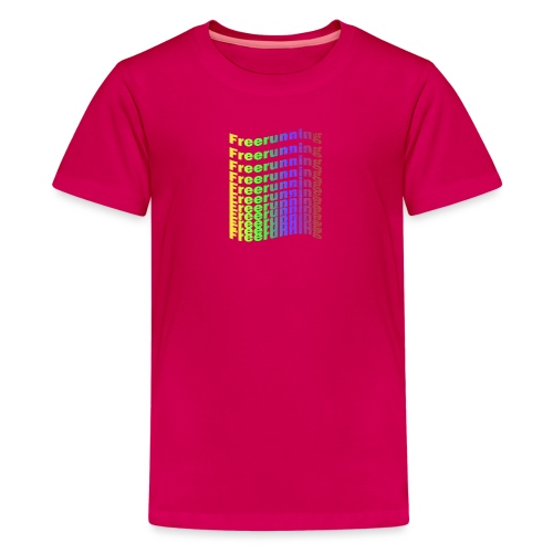 Freerunning Rainbow - Teenager premium T-shirt