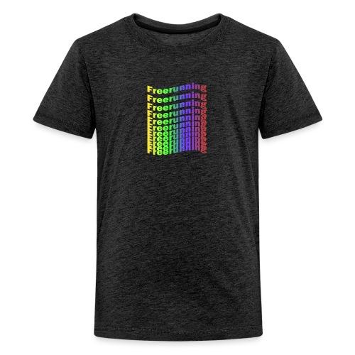 Freerunning Rainbow - Teenager premium T-shirt
