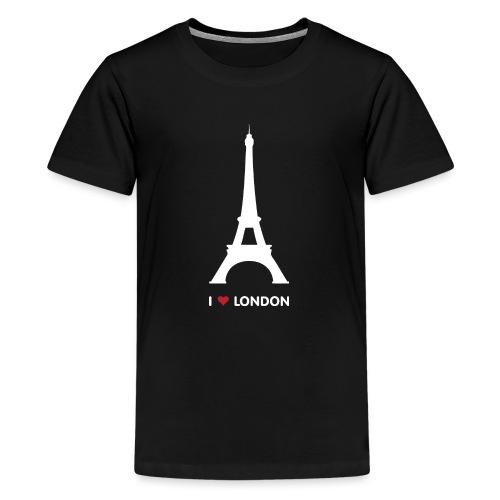 I love London - Teenage Premium T-Shirt