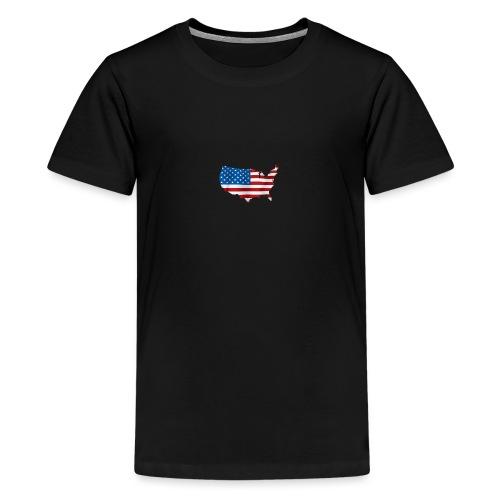 AMERICAN - T-shirt Premium Ado