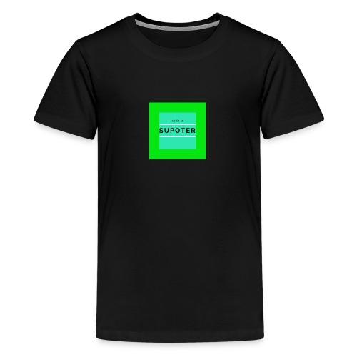 jag är en supoter - Premium-T-shirt tonåring