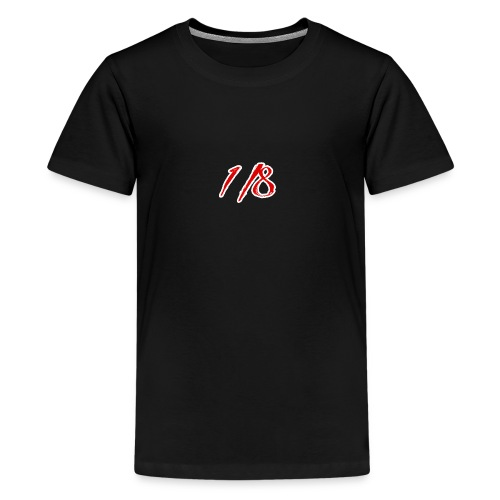 Red And White 1/8 logo Tee - Teenage Premium T-Shirt