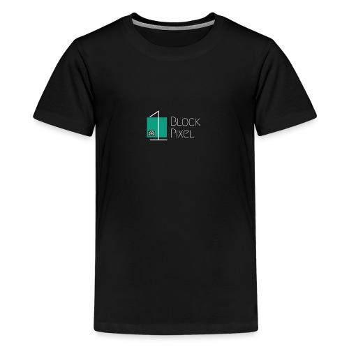 1BlockPixel Schrift Weiß - Teenager Premium T-Shirt