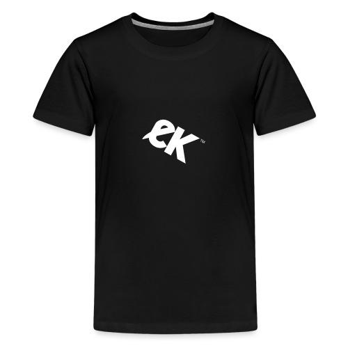 EK logo blanc # 1 - T-shirt Premium Ado