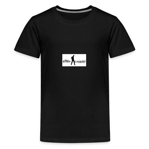 men stripacademy logo wei - Teenager Premium T-Shirt