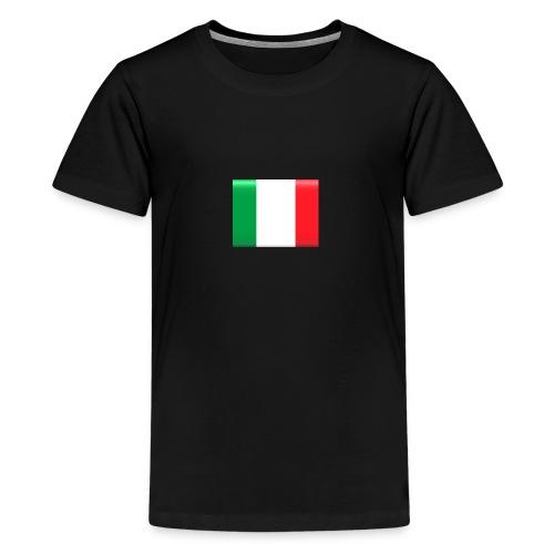 Muurprint wanddecoratie Vlag van Italie 03 jpg - Teenager Premium T-shirt