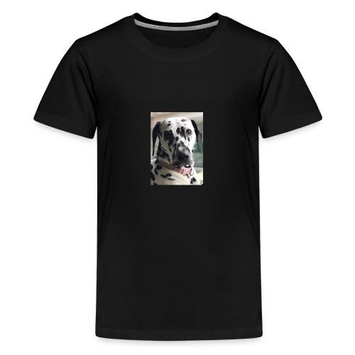 Dalmatian Daisy Dog - Teenage Premium T-Shirt