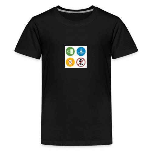 4kriteria obi vierkant - Teenager Premium T-shirt