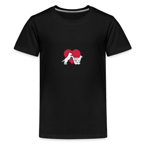 Shopping Bullterrier LOVE 3c - Teenager Premium T-Shirt