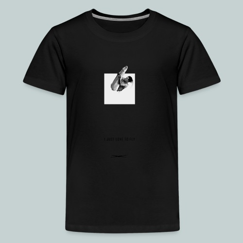 Ijustlovetofly_teen_boy_tshirt - Teenage Premium T-Shirt