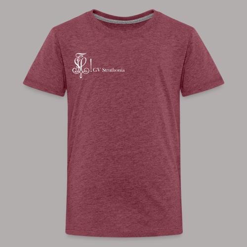 Zirkel mit Name, weiss (vorne) - Teenager Premium T-Shirt