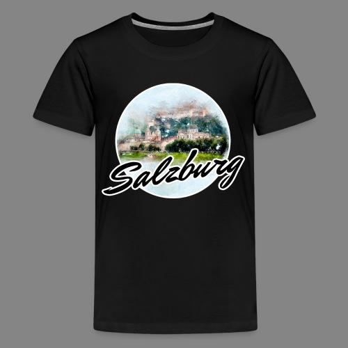 SBG Salzburg Stadt Österreich Wasserfarben Shirt - Teenager Premium T-Shirt
