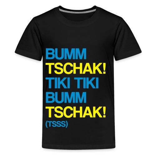 Bumm Tschak Tsss zweifarbig - Teenager Premium T-Shirt