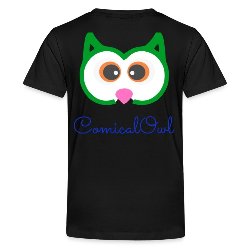 Cartoon Owl - Teenage Premium T-Shirt