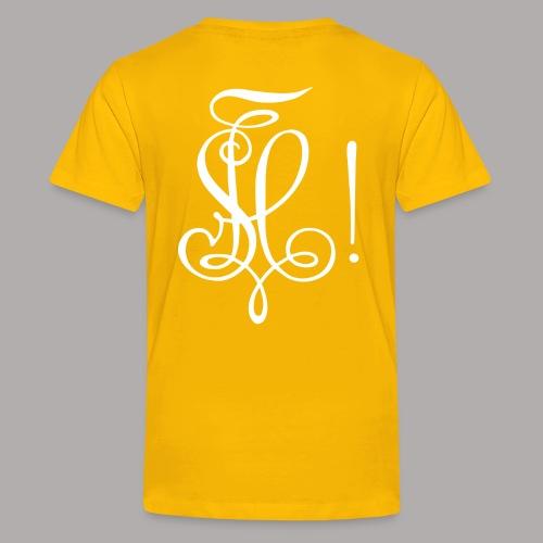 Zirkel, weiss (hinten) - Teenager Premium T-Shirt