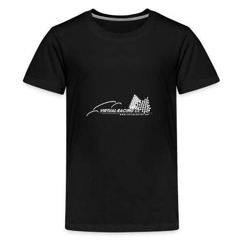 VR Logo WT png - Teenager Premium T-Shirt