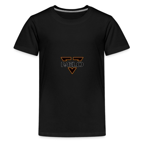 logo melo blanc - orange - T-shirt Premium Ado