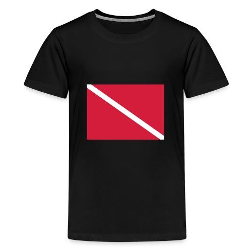 Diver Flag - Teenage Premium T-Shirt