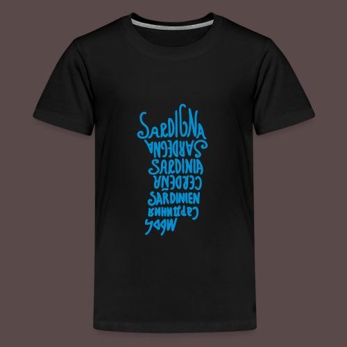 Sardegna, Lingue del mondo - Maglietta Premium per ragazzi