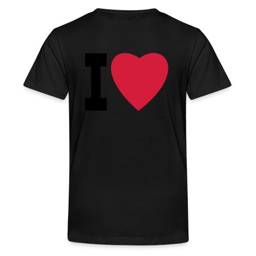 create your own I LOVE clothing and stuff - Teenage Premium T-Shirt