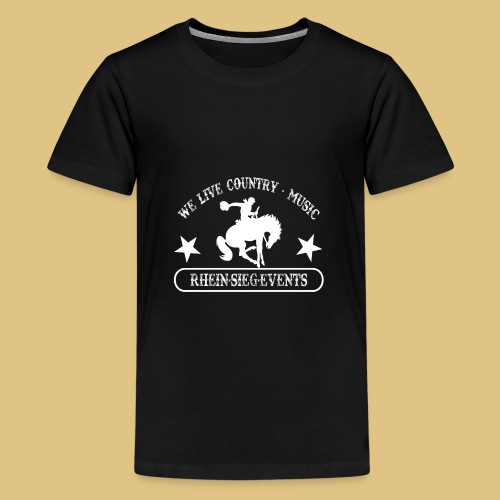 2We_live_Country_Music.png - Teenager Premium T-Shirt