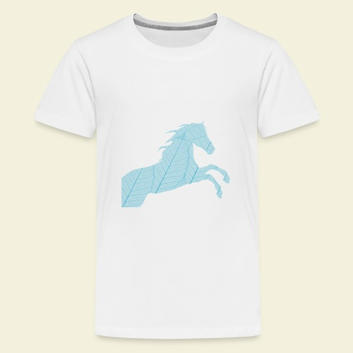 Cheval feuille - T-shirt Premium Ado