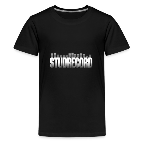 StudRecord (Logo Blanc) - T-shirt Premium Ado