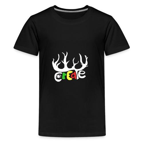 create white - Teenager Premium T-Shirt