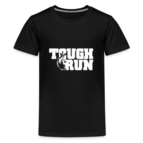 TOUGRUN Logo weiß - Teenager Premium T-Shirt
