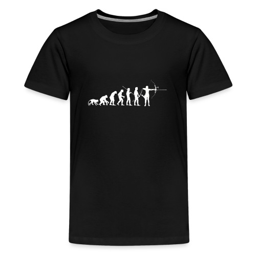 Évolution de l'homme Arc Classique Recurve Archer - T-shirt Premium Ado