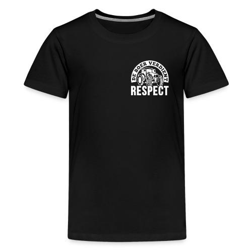 LOGO WIT DeBoerVerdientRespect png - Teenager Premium T-shirt