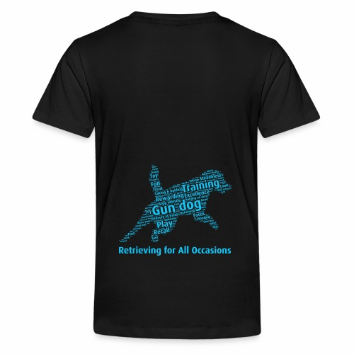 Retrieving for All Occasions wordcloud blått - Premium-T-shirt tonåring