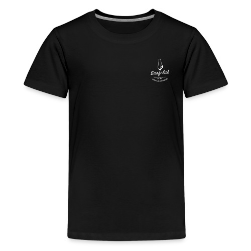 logo_surfclub_weiss_RZ - Teenager Premium T-Shirt