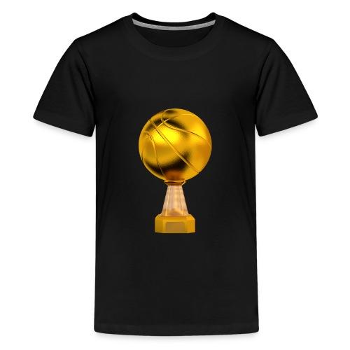 Basketball Golden Trophy - T-shirt Premium Ado