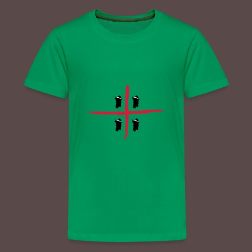 Sardegna Bendata, 4 Mori orizzontale - Maglietta Premium per ragazzi
