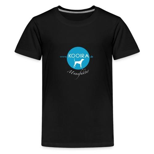 Logo KOOIRA Manufaktur V1 0 Druck White png - Teenager Premium T-Shirt