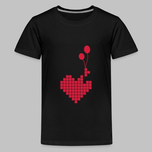 heart and balloons - Teenage Premium T-Shirt