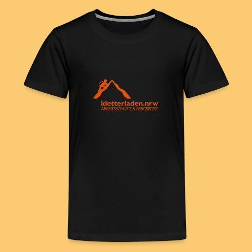 Logo mit Subline_kletterl - Teenager Premium T-Shirt