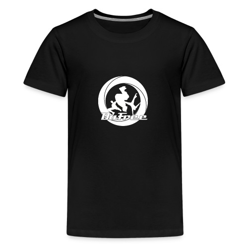 Big DaFree Logo White - Teenage Premium T-Shirt